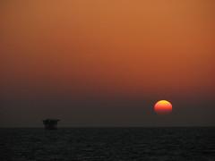 Persian Gulf off Dubai Oct 08 (go6s) Tags: sunset persian gulf offshore oilgas