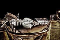 Ciudad (Jose Casielles) Tags: valencia ojo luces noche agua ciudad reflejos yecla ciudaddelasartesylasciencias fotografíasjcasielles