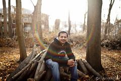 Umesh on wood :) (Karan Kadam) Tags: portrait people outdoors naturallight canon5dmark2 rokinon3514