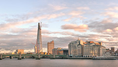 Sunset over the Thames.jpg (Darren Pettit) Tags: uk sunset summer sky panorama west slr london water thames clouds digital 35mm canon river eos boat photo europe unitedkingdom united central kingdom southbank photograph processing end split dslr shard tone westend hdr embankment blackfriarsbridge lightroom centrallondon splittone captial digitalprocessing photomatrix theshard