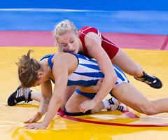 Wrestling 83 ([ Greg ]) Tags: uk ladies girls england test london sport wrestling events womens event international gb series olympic olympics invitational 2012 excel prepares london2012 locog