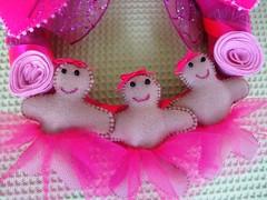Guirlanda rosa detalhe (Ritafazfita) Tags: christmas natal felt feltro wreat guirlandas