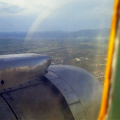 Approaching Entebbe. East African Airways DC-3 en route from Murchison Falls.