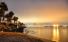 Tidelands Park, San Diego (Seth Oliver Photographic Art) Tags: california nightphotography reflections landscapes nikon nightlights sandiego silhouettes cityscapes nightshots southerncalifornia pinoy nightscapes urbanscapes coronadobridge sandiegobay longexposures sandiegoskyline coronadoisland cityskylines d90 nightexposures 10secondexposure wetreflections iso360 aperturef35 tidelandspark shutterprioritymode setholiver1 18105mmnikkorlens tripodmountedshot remotetriggeredshot