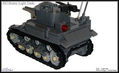Lego ww2 -M3 Honey Light Tank- (=DoNe=) Tags: world light 2 by viktor dark war tank lego wwii stuart homemade american done m3 bley brickarms legoww2 legoww2m3honeylighttank
