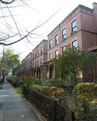 Astor Row Historic District, Harlem, New York City (jag9889) Tags: city nyc ny newyork garden harlem manhattan district landmark row historic 2009 astor brownstones townhouses astorrow 130street y2009 jag9889