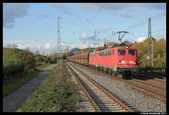DBS 140 837 + 140 805, Unkel 19-10-2011 (Henk Zwoferink) Tags: 805 henk koblenz dbs 140 unkel 837 br140 zwoferink 19102011