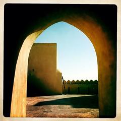 An Nu'man fort in Oman thru hipstamatic (Eric Lafforgue) Tags: apple oman iphone omn   3379 om  omo umman omaan     omna omanas umn hipstamatic