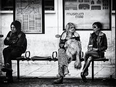 "Waiting - London Session 2010 (""Strlic Furln"" - Davide Gabino) Tags: street uk morning costumes party people bw london halloween drunk contrast mask burn wait 2010 attesa"