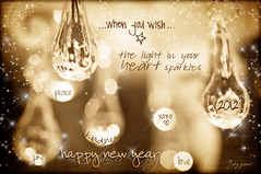Happy New Year (Imagemakercan - The Lensdancer) Tags: life light stilllife love hope droplets peace friendship crystal joy dream happiness newyear sparkle beginning chandelier kindness wish happynewyear 2012 ©joygerow lensdancer lensdancerstudios