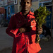 Man Holding A Branch Of Khat In Hand On The Street In Hargeisa, Somaliland