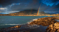 rainbow (Chris Rutter1) Tags: sea sky mountain seascape water clouds rainbow waves