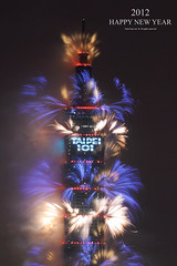 Happy New Year 2012 & Taipei 101 Fireworks  Jan. 1, 2012 (*Yueh-Hua 2013) Tags: longexposure sky building tower architecture skyscraper canon landscape eos fireworks 101     happynewyear       101 canonef50mmf14usm   50d   markins verticalphotograph canoneos50d    taipei101internationalfinancialcenter sirui tigerpeak   photoclam ballheads  n2204 pc44ns siruin2204 pc69up3 pg50cameraplate 2012january