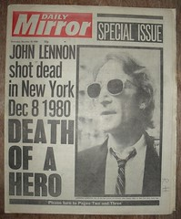DAILY MIRROR (old school paul) Tags: vintage newspapers 1980 johnlennon frontpage dailymirror