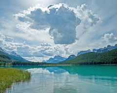 Clouds over Bow Lake (mfenne) Tags: bow lake banff jasper alberta clouds reflection summer canada marlowe fenne drala images