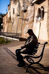 Sul saper aspettare... (luce_eee) Tags: street man bench time wait attesa panchina vasto parte1 canon85f18 canon5dmarkii