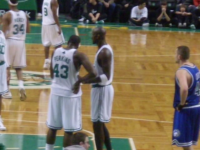 KENDRICK PERKINS and Kevin Garnett
