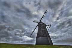 Windmill (art_morpheus) Tags: sky green windmill grass clouds big wind best misha hdr canon500d 1022mmf35