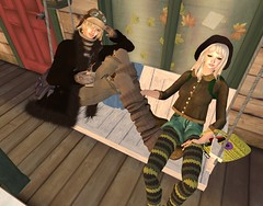 Shivery winter day (::K::  Kitt Ragu) Tags: winter motion milk gift kawaii epic league fd cestlavie nanan coordinate gatcha justb slfashion teefy leont firmna lepoppycock ~pepper~