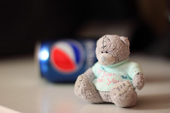 Pepsi bear (KaterRina) Tags: bear toy background pepsi soda oneobject365daysproject pukatukas