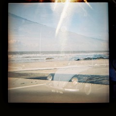 Carocha RAt look (Uka wonderland) Tags: blue beach look vw bug lomo lomography rat diana f lomografia carocha