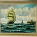 169. English Clipper Ship Painting