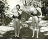 1952 May Day - Patricia Smith and Emily Coye as heralds (first years)