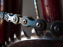 Vélo chain (Old-Bikes) Tags: old bicycle antique steel chain 118 chainring ccm