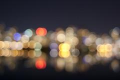 Same Spot as Below with Bokeh Balls (Miss Annie80) Tags: winter night vancouver lights downtown bokeh britishcolumbia falsecreek canonxsi