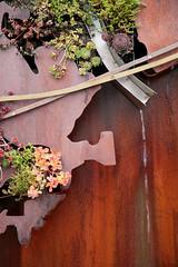 The Don River Trickle (peterkelly) Tags: sculpture plant toronto ontario canada art water metal wall digital rust rusty installation northamerica livingwall donvalleybrickworks donriver evergreenbrickworks