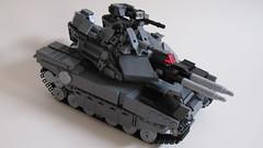 DARKWATER Cerberus MK II MBT (Andreas) Tags: tank power lego military led leds remote darkwater functions mbt controlled battletank legombttank