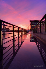 railin 'n' tings...just doing the quays! (gobayode photography...times) Tags: reflections cityscape wintersunset salfordquays salford railings greatermanchester tonightssunset mediacity sunsetcolours iwmnorth mancheseruk