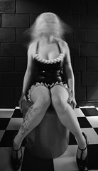 All those moments lost in time (stumayhew) Tags: blackandwhite bw fashion tattoo fetish canon mono movement model rubber heels latex 5d pvc lss