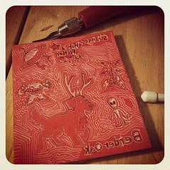 My 1st Hand-Carved Signature Stamp #letterboxing (LeftOvers4Dinner) Tags: crafts carving letterboxing stamp stampcarving handcarved instagramappsquaresquareformatiphoneographyuploadedbyinstagramearlybird