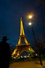 La Tour Eiffel (Aurelia Dumont) Tags: paris france color tower silhouette vertical night french lights walk eiffeltower latoureiffel toureiffel champdemars parc lampadaire balade theeiffeltower january9 photographes gustaveeiffel illumine ladamedefer forumlumix aureliadumontphotography
