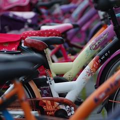IMGP1029 A (Judith S-vdnB) Tags: school fietsen kleurrijk fietsenstalling vrolijk stalling kinderfietsen