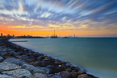 Rush Clouds (A.alFoudry) Tags: street city longexposure winter light sunset red sea building tower cars lines yellow rock clouds marina canon eos lights rocks long exposure waves cityscape slow gulf dusk mark line arabic full filter arab 09 lee frame nd slowshutter shutter 5d kuwait fullframe ef kuwaitcity kuwaiti q8 neutral abdullah mark2 1635mm   || f28l kuw q80 q8city xnuzha alfoudry  canonef1635mmf28l abdullahalfoudry marinawaves foudryphotocom mark|| 5d|| canoneos5d|| mk|| canoneos5dmark|| foudryphcom dinsety
