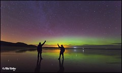 Chasing the Aurora (Mike Ridley.) Tags: night photography northumberland nighttime nightscene auroraborealis selfie northeastcoast northeastengland auroraborialis thenorthernlights seemedlikeagoodideathetime northumberlandaurora