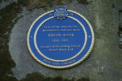 Photo of Joseph Rank blue plaque