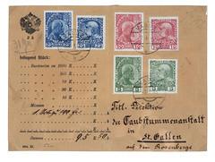 Brief mit liechtensteinischen und sterreichischen Briefmarken (Mischfrankatur). (Liechtensteinisches Landesmuseum) Tags: 100 jahre briefmarken liechtensteinische 19122012