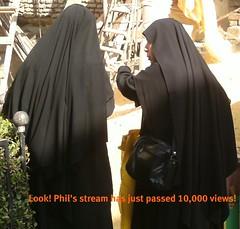 Nuns at work (JNP2014) Tags: religious veil egypt hijab nuns cairo constructionsite handbag cowl blackcostume 10000views hiqab