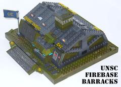 Custom UNSC Firebase Barracks 01 - GWH (goodwillhunter) Tags: halo custom build barracks mega unsc firebase bloks