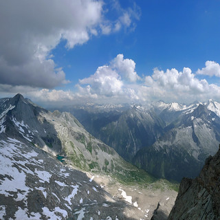 The shimmering slopes of the pristine Austrian Alps