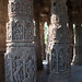 Carved pillars of the Sabha Mandap at Modhera