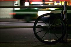 wheel -  (turntable00000) Tags: bicycle wheel japan night photography tokyo shinjuku taxi sony 365  takashi  nex   366  kitajima turntable00000