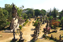 Buddha park in Vientiane, Laos. (cookiesound) Tags: trip travel vacation sculpture holiday travelling canon photography asia fotografie diary urlaub documentary destination laos canoneos vientiane reise travelphotography traveldiary buddhapark reisefotografie reisetagebuch cookiesound nisamaier reisedokumentation ulrikemaier ullimaier traveldocumentyray