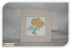Quadrinho Patchwork Embutido (mfuxiqueira) Tags: flores quadro tulipas quadrinho patchworknoisopor patchworkembutido