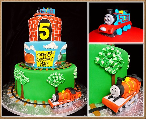 Thomas the Tank Fondant Tiered Cake