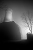 Hohennagold (Michad90) Tags: light bw white mist black tree castle fog night scary nikon burgruine d90 hohennagold