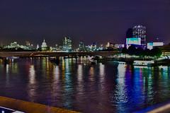 Thames Night HDR (Konstantinos Kazantzoglou Momment Capture) Tags: uk bridge london colors thames night lights hdr flickraward flickraward5 mygearandme mygearandmepremium ringexcellence dblringexcellence tplringexcellence eltringexcellence